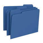 Smead File Folder 13193, 1/3-Cut Tab, Letter, Navy Blue