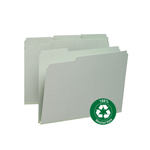 Smead 100% Recycled Pressboard File Folder 13500, 1/3-Cut Tab, 1