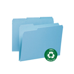 Smead 100% Recycled Pressboard File Folder 13502, 1/3-Cut Tab, 1