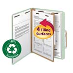 Smead 100% Recycled Pressboard Classification Folder 13723, 1 Divider, 2