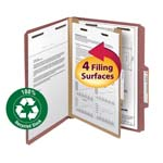 Smead 100% Recycled Pressboard Classification Folder 13724, 1 Divider, 2