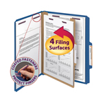 Smead Pressboard Classification Folder with SafeSHIELD® Fasteners 13732, 1 Divider, 2