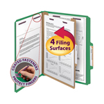 Smead Pressboard Classification Folder with SafeSHIELD® Fasteners 13733, 1 Divider, 2