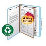 Smead 100% Recycled Pressboard Classification Folder 13748, 1 Divider, 2