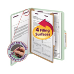Smead Pressboard Classification Folder with SafeSHIELD® Fasteners 13776, 1 Divider, 2