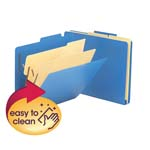 Smead Poly Classification Folder 14045, Two Dividers, Letter, Blue