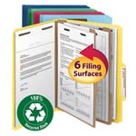 Smead 100% Recycled Pressboard Classification Folder 14049, 2 Dividers, 2
