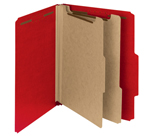 Smead 100% Recycled Pressboard Classification Folder 14061, 2 Dividers, 2