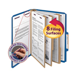 Smead Pressboard Classification Folder with SafeSHIELD® Fasteners 14096, 3 Dividers, 3