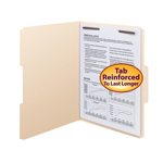 Fastener Folders with Reinforced Tab
