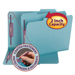 Smead Pressboard Fastener Folder with SafeSHIELD® Fasteners 14937, 2 Fasteners, 1/3-Cut Tab, 2