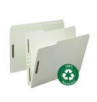 Smead 100% Recycled Pressboard Fastener File Folder 15004, 1/3-Cut Tab, 2