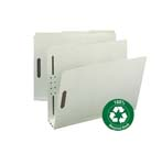 Smead 100% Recycled Pressboard Fastener File Folder 15005, 1/3-Cut Tab, 3