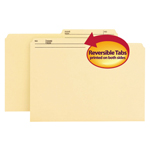 Smead Reversible File Folder 15145, 1/2-Cut Printed Tab, Legal, Manila