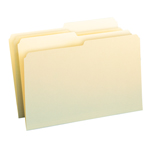 Smead File Folder 15320, 1/2-Cut Tab, Letter, Manila