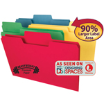 Smead SuperTab® Heavyweight File Folder 15410, Oversized 1/3-Cut Tab, Legal, Assorted Colors