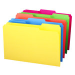 Smead File Folder 16943, 1/3-Cut Tab, Legal, Assorted Colors
