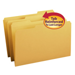Smead File Folder 17234, Reinforced 1/3-Cut Tab, Legal, Goldenrod