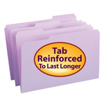 Smead File Folder 17434, Reinforced 1/3-Cut Tab, Legal, Lavender