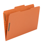 Smead Fastener File Folder 17540, 2 Fasteners, Reinforced 1/3-Cut Tab, Legal, Orange