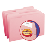 Smead File Folder 17634, Reinforced 1/3-Cut Tab, Legal, Pink