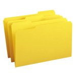 Smead File Folder 17943, 1/3-Cut Tab, Legal, Yellow