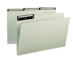 Smead Pressboard File Folder 18430, 1/3-Cut Tab Flat Metal, 1