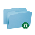 Smead 100% Recycled Pressboard File Folder 18502, 1/3-Cut Tab, 1