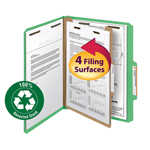 Smead 100% Recycled Pressboard Classification Folder 18749, 1 Divider, 2