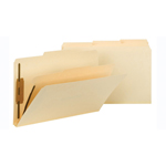 Smead Fastener Heavy-Duty File Folder with Divider 19560, 2 Fasteners, Reinforced 1/3-Cut Tab, Legal, Manila