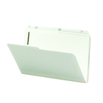 Smead Fastener Folder 19570, 2 Fasteners, 1/2-Cut Printed Tab, Legal, Ivory
