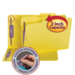 Smead Pressboard Fastener Folder with SafeSHIELD® Fasteners 19939, 2 Fasteners, 1/3-Cut Tab, 2