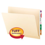Smead End Tab TUFF® Laminated File Folder 24125, Shelf-Master® Reinforced Straight-Cut Tab, Letter, Manila