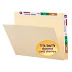 Smead Conversion Folder Top and End Tab 24190, Reinforced Straight-Cut Tab, Letter, Manila