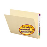 Smead End Tab File Folder 24250, Straight-Cut Extended Tab, Letter, Manila