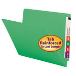 Smead End Tab File Folder 25110, Shelf-Master® Reinforced Straight-Cut Tab, Letter, Green