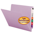 Smead End Tab File Folder 25410, Shelf-Master® Reinforced Straight-Cut Tab, Letter, Lavender