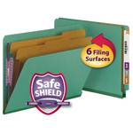 Smead End Tab Pressboard Classification Folder with SafeSHIELD® Fasteners 26785, 2 Dividers, 2
