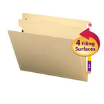 Smead End Tab Classification File Folder 26825, 1 Divider, 2