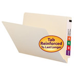 Smead End Tab File Folder 27110, Shelf-Master® Reinforced Straight-Cut Tab, Legal, Manila