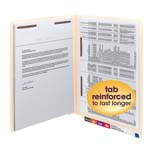 Smead End Tab Fastener File Folder 34120, Shelf-Master® Reinforced Straight-Cut Tab, 2 Fasteners, Letter, Manila