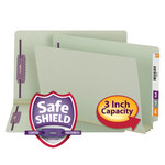 Smead End Tab Pressboard Fastener File Folder with SafeSHIELD® Fasteners 37725, 2 Fasteners, 3