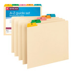 Smead Guides 50180, Multi-Colored Fused Poly 1/5-Cut Tab (A-Z), Set of 25, Letter, Manila