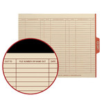 Smead End Tab Out Guides with Printed Form 61910, 1/5-Cut Tab Center Position, Letter, Manila