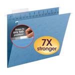Smead TUFF® Hanging Folder with Easy Slide™ Tab 64041, 1/3-Cut Sliding Tab, Letter, Blue