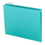 Smead Hanging File Folder with Tab 64058, 1/5-Cut Adjustable Tab, Letter, Aqua