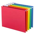 Smead Hanging File Folder with Tab 64059, 1/5-Cut Adjustable Tab, Letter, Assorted Colors