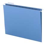 Smead Hanging File Folder with Tab 64060, 1/5-Cut Adjustable Tab, Letter, Blue