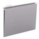 Smead Hanging File Folder with Tab 64063, 1/5-Cut Adjustable Tab, Letter, Gray