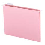 Smead Hanging File Folder with Tab 64066, 1/5-Cut Adjustable Tab, Letter, Pink